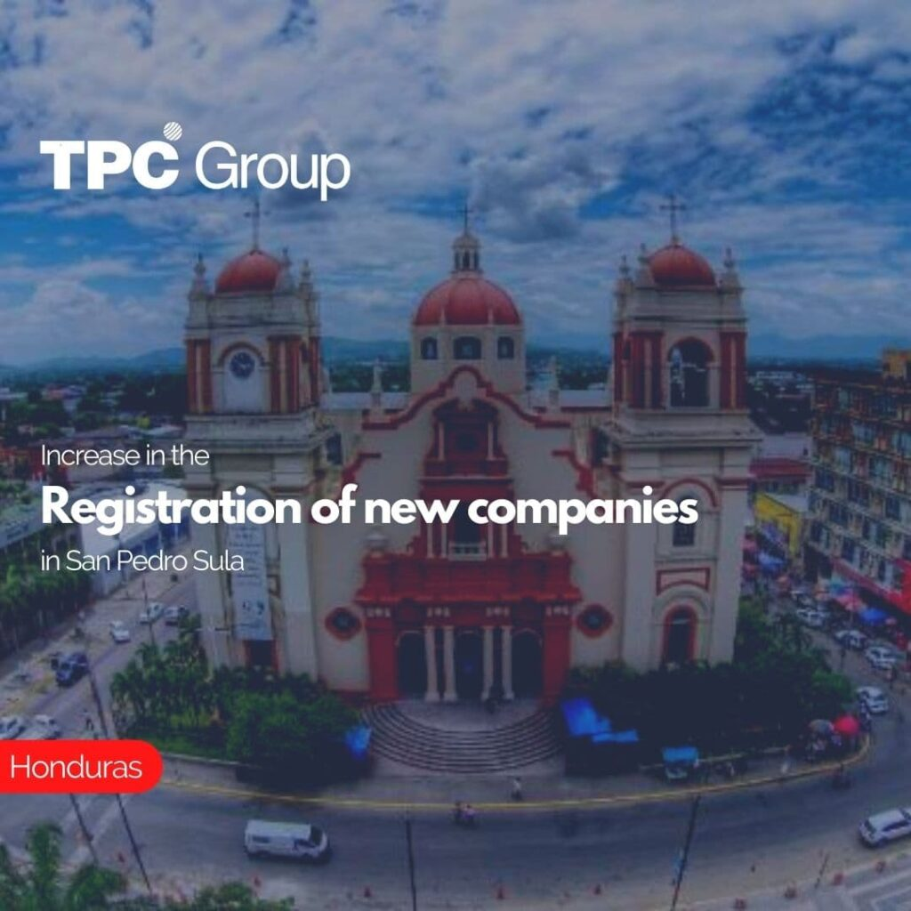 Increase in the Registration of new companies in San Pedro Sula