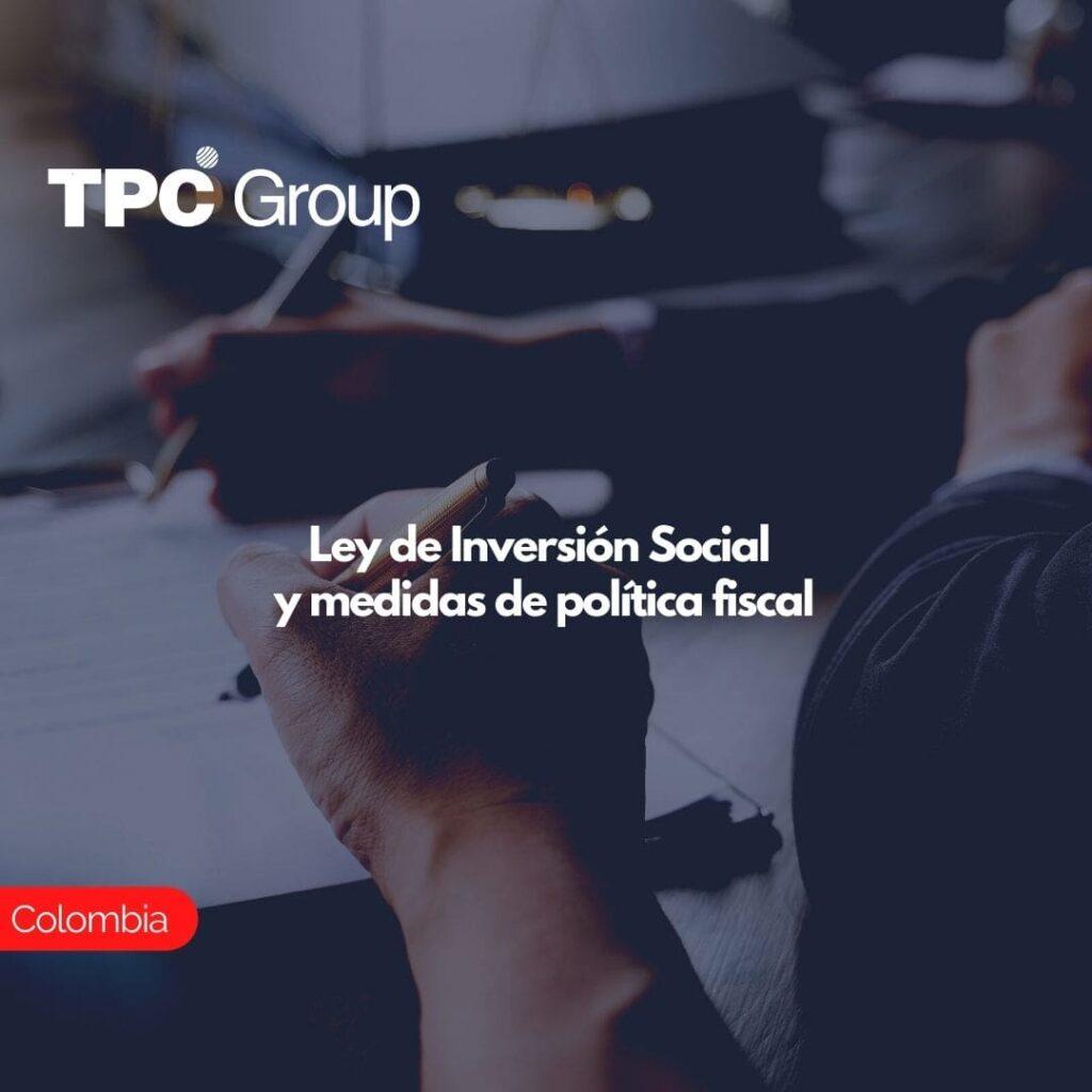 Ley de Inversión Social y medidas de política fiscal