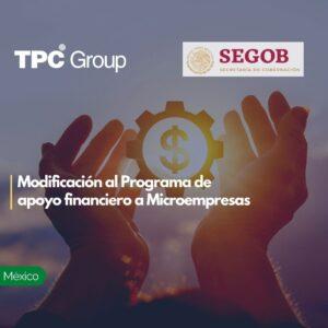 Modificación al Programa de apoyo financiero a Microempresas