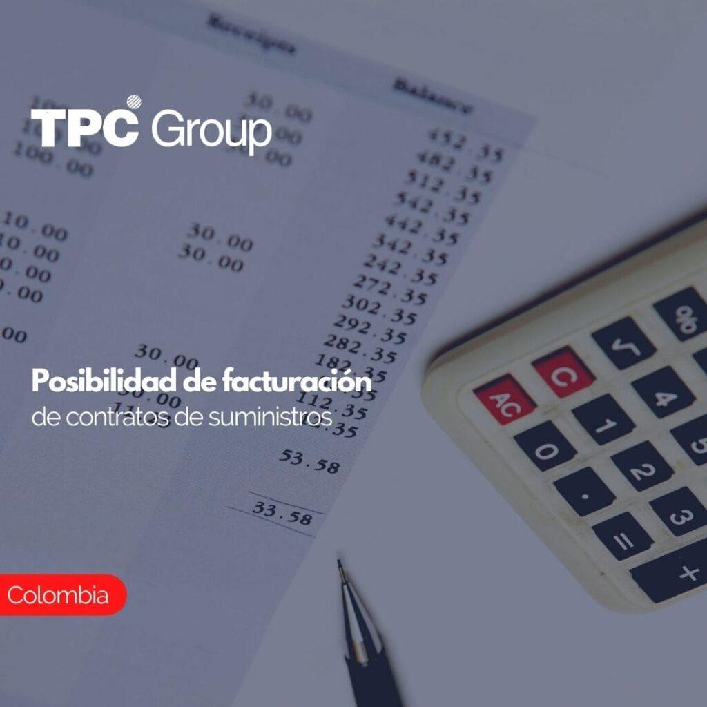 Posibilidad de facturación de contratos de suministros