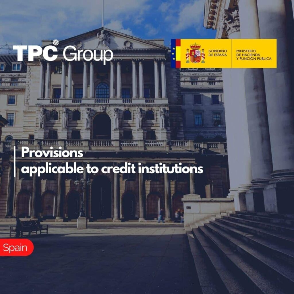 Provisions applicable to credit institutions