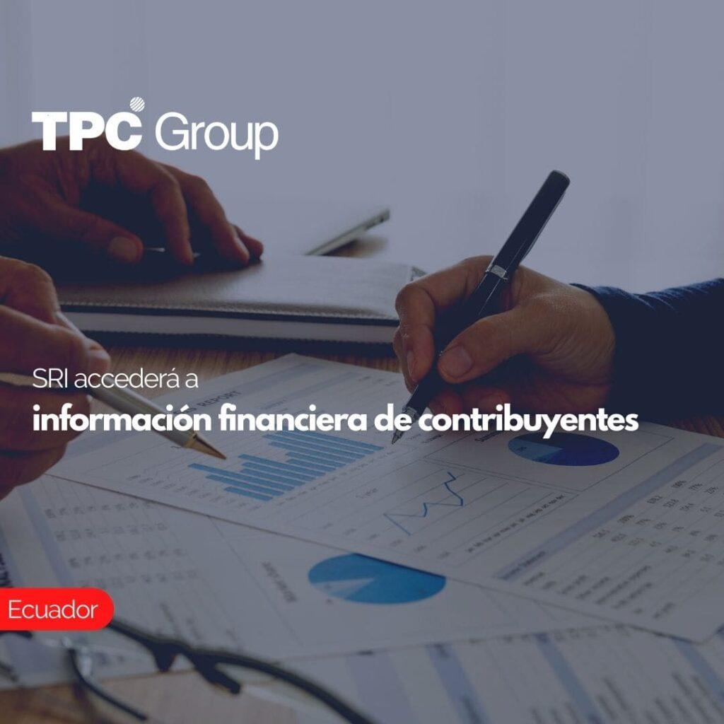 SRI accederá a información financiera de contribuyentes