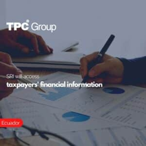 SRI will access taxpayers' financial information