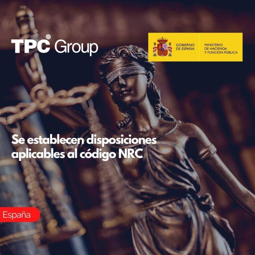 Se establecen disposiciones aplicables al código NRC