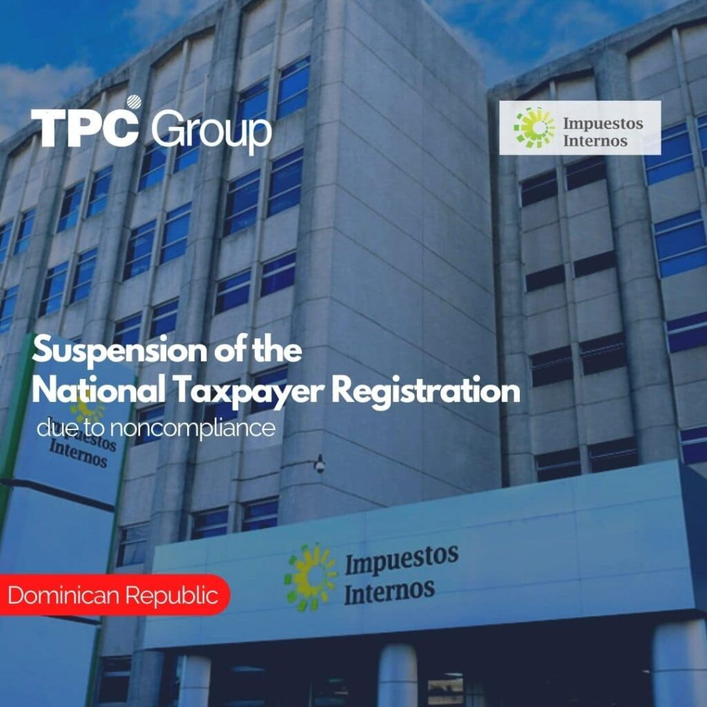 Suspension of the National Taxpayer Registration due to noncompliance