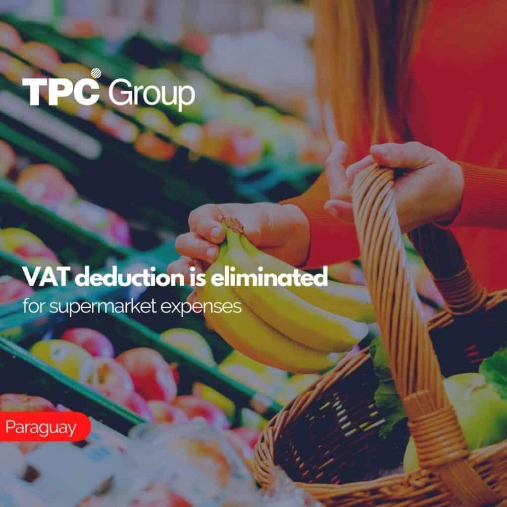 VAT deduction is eliminated for supermarket expenses